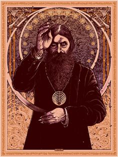 "Villains Mythos – ""Rasputin"" Art Print by Florian Bertmer  (Onsale Info)"