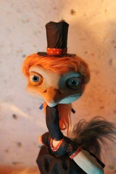 ooak woody wood puppet by Stéphanie Marguerite