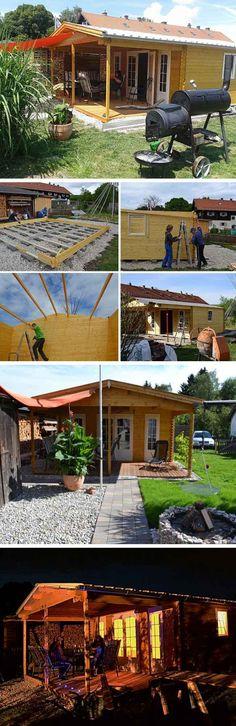 """Gartenhaus Einrichtung: Unser Kunde hat das Gartenhaus Nyborg mit viel Engagement in ein """"Grillsportheim"""" verwandelt. Wir zeigen das ausgefallene Projekt in einer Aufbaustory. Style At Home, Cabin, Outdoor, Post, House Styles, Wordpress, Blog, Home Decor, Asylum"""