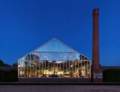De Kas is a large restaurant and nursery located in a former greenhouse on the outskirts of Amsterdam.