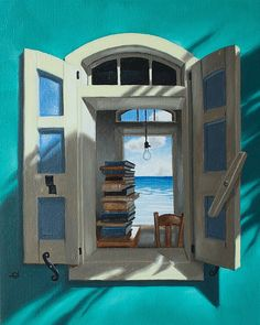 Learned by Don Dahlke...a favorite artist. A room and view I long for...