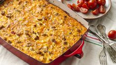 An overnight refrigerator prep for these ham, egg and cheese enchiladas make them a perfect addition to your next brunch menu. Switch up the ingredients and serve them at pot lucks and casual dinners, too. Breakfast And Brunch, Mexican Breakfast Casserole, Sausage Breakfast, Breakfast Dishes, Breakfast Recipes, Breakfast Ideas, Breakfast Cassarole, Breakfast Healthy, Sausage Muffins