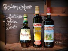 Discover 3 popular Amari: Amaro Montenegro, Averna and Braulio. Amaro is a popular Italian herbal elixir with bittersweet, thick flavor. Amaro Cocktails, Cocktail Bitters, Cocktail Drinks, Liqueurs, Montenegro, Exploring, Herbalism, Classy, Bottle