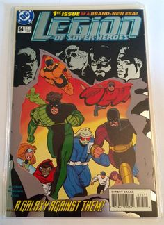 A brand new in wrapper, vintage February 1994 DC comic book featuring the very first issue of Legion of Superheroes as seen in the photos.  #wrapper #rare #superheroes #legion #comic #book #issue