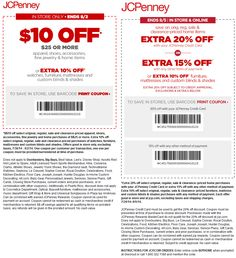 Pinned July 29th: $10 off $25 & more at JCPenney #coupon via The #Coupons App