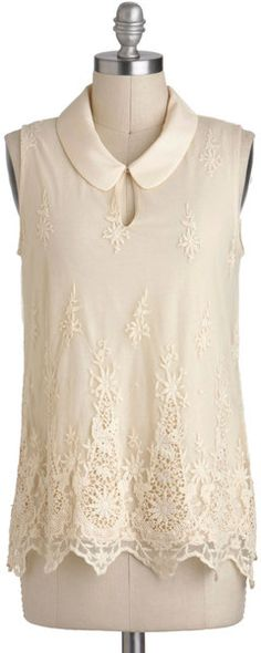 Modcloth Queen Annes Lacy Top