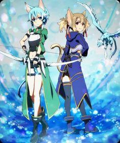 Sinon (Asada Shino) & Sílica (Ayano Keiko) - By Sword Art Online ღ