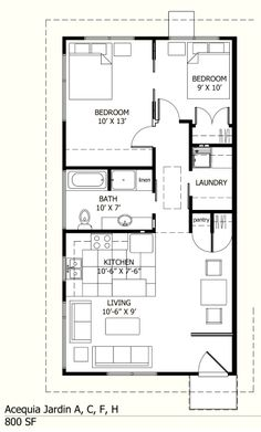 small house plan** close off the living room for the cats? or dogs