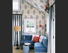Hampton Pool House + Red, White & Blue + Branca Interiors