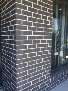 Exterior Color Scheme Dark Grey Brick Light Color Mortar