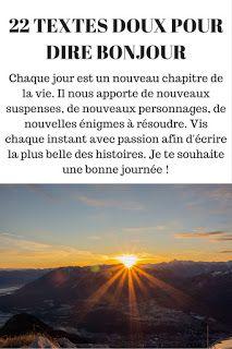 Message Pour Dire Bonjour Message Pour Dire Bonjour Sms