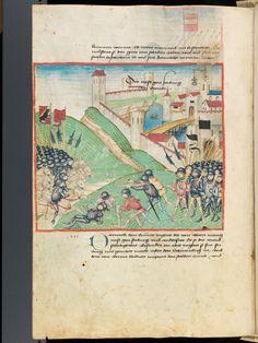 Bern, Burgerbibliothek, Mss.h.h.I.1, f. 258 – Diebold Schilling, Amtliche Berner Chronik, vol. 1