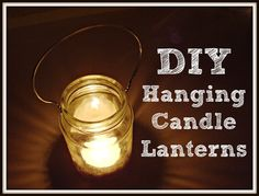 A perfect step by step DIY tutorial on this site for how to convert mason jars to hanging candle lanterns ... inside or outdoors, great for evening ceremonies or receptions