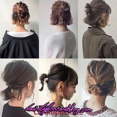 Easy Hairstyles Hairstyles for Long Hair Videos Hairstyles Tutorials Compilation 2019 Easy Hairstyles For Long Hair, Braids For Short Hair, Short Hair Ponytail, Bob Hairstyles How To Style, Styling Short Hair Bob, Style Short Hair, Hairstyle Short, Braid Hairstyles, Short Bob Hairstyles