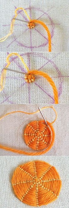 Sarah Whittle - Contemporary Embroidery Artist: Couched Circles