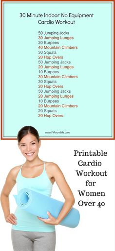 Cardio workout for losing weight for women over 40 and anyone!
