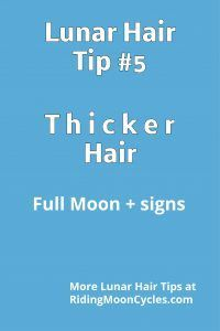 Just about every source in the history of lunar hair cutting agrees that the Full Moon is the best phase for seeing thicker growth after a cut or trim. I like to refine that notion to includ…