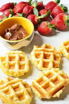 Really QUICK Puff Pastry Waffle Shells with Nutella and Fruit for Valentine's Day! ReluctantEntertainer.com