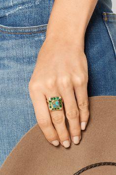 Brooke Gregson Hoffman 18-karat gold multi-stone ring NET-A-PORTER.COM