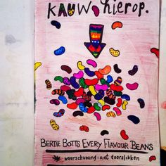 Bertie Botts every flavour Beans, Harry Potter. Wreck this journal