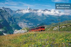 Join a memorable trip to Jungfraujoch and the Top of Europe! The World Heritage Site of the Swiss Alps is home to Europe's highest train station. Switzerland Tour, Switzerland Summer, Places To Travel, Places To Go, Backpack Through Europe, Jungfraujoch, Train Journey, Grand Tour, Train Rides