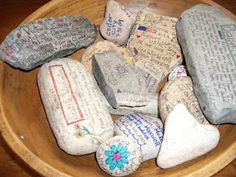 vacation memories - journal rocks, use a fine tip sharpie to record memories of your adventures!