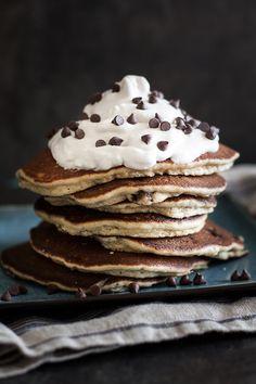 fluffy chocolate chip almond flour pancakes