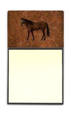 Horse Refiillable Sticky Note Holder or Postit Note Dispenser SB3066SN, Multi