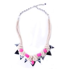 Naomi - Pink Rope Necklace