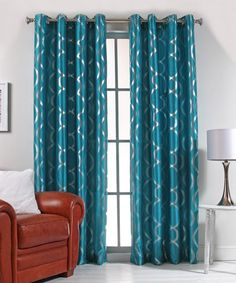 Look what I found on #zulily! Teal Lafayette Curtain Panel #zulilyfinds