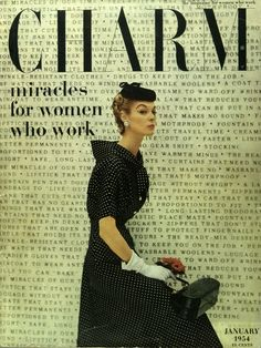 "cMag087 - Charm Magazine ""Miracles for Women who Work"" cover by Cipe Pineles / January 1954"