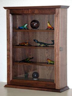 Cherry Curio Display Wall Cabinet $109.95 | Curio Wall Cabinets ...