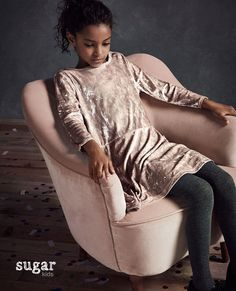 "Zoe from Sugar Kids for Massimo Dutti ""Velvet Dreams""."