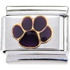 This Purple PAW gold plating and enamel link is part of our Animal Jewelry collection and is a way to remember your favorite pets and animals. Authentic Body Candy Body Jewelry Italian Charms are soldered premium quality stainless steel Italian charm links with official corporate stamp on reverse. Commemorate special occasions, capture memorable moments, or simply show off your personality by creating your own original Italian charm bracelet...