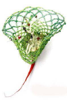 Emmanuelle Dupont - Chimères Textiles, Textile Art, Artsy Fartsy, Plant Hanger, Garden Art, Fiber Art, Flora, Creations, Sculpture