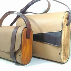 Leather and Wood Bags!