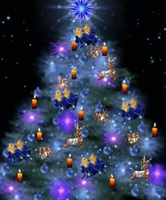 passiondesgifs - Page 4 Christmas Tree Gif, Holiday Gif, Christmas Scenes, Merry Christmas And Happy New Year, Blue Christmas, Christmas Pictures, Christmas Greetings, Beautiful Christmas, Winter Christmas