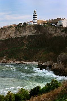 Rocky Coastline with #Lighthouse in town of Istanbul, #Turkey  -  http://dennisharper.lnf.com/