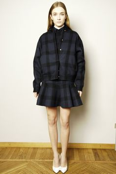 plaid ensemble paired with white pumps - No.21 pre fall