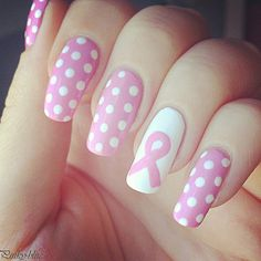 tomorrow october 8th, is national breast cancer awareness day. please wear pink!!   this is how I will be doing my nails!