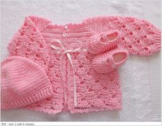 Crochet Baby Sweaters, Crochet Baby Clothes, Baby Knitting, Crochet Bebe, Baby Girl Crochet, Knit Crochet, Baby Cardigan, Girls Sweaters, Crochet Designs