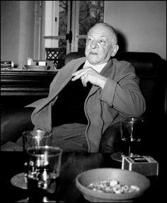 L' écrivain Blaise Cendrars -1955 ©Gérald Bloncourt