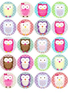 Owl Classroom Decor, Cliparts Free, Marble Magnets, Unicornios Wallpaper, Bottle Cap Projects, Fox Crafts, Owl Clip Art, Owl Cartoon, Holiday Gift Tags
