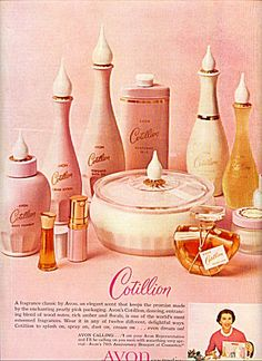 1962 Avon Cotillion 76th Anniversary Ad        My mother wore this.  It came out the year I was born.