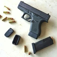 Glock 43 and Taran Tactical +2 basepads. Definitely something that I will be buying once I get my Glock 43