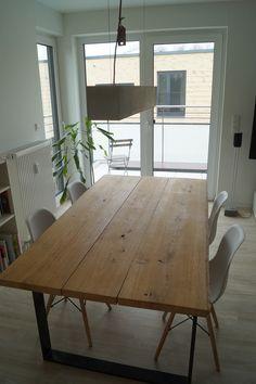 Esstische - Holztisch Industriedesign Esstisch Wohnzimmertisch - ein Designerstück von Beton-Liebe bei DaWanda