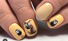 Natural Nail Designs, Cool Nail Designs, Fall Nail Art, Cute Nail Art, Hot Nails, Hair And Nails, Picasso Nails, Animal Nail Art, Nails Only