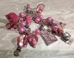 Elegant Pink Couture Wine glass charm/purse by SugarLumpCreations, $15.00