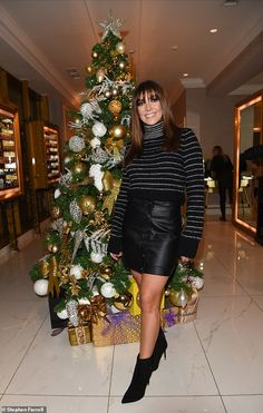 Good spirits: Kym Marsh enjoyed a festive evening with her Corrie co-star Brooke Vincent i. Brooke Vincent, Alison King, Kym Marsh, Good Spirits, British Actresses, Leather Skirt, Female, Clothes For Women, Lady