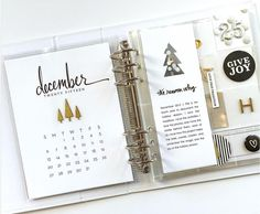 December Daily® Foundation Pages by Colleen Hornung Christmas Journal, Christmas Albums, Christmas Scrapbook, Christmas Minis, Family Christmas, Christmas Ideas, December Daily, Hello December, Project Life Planner